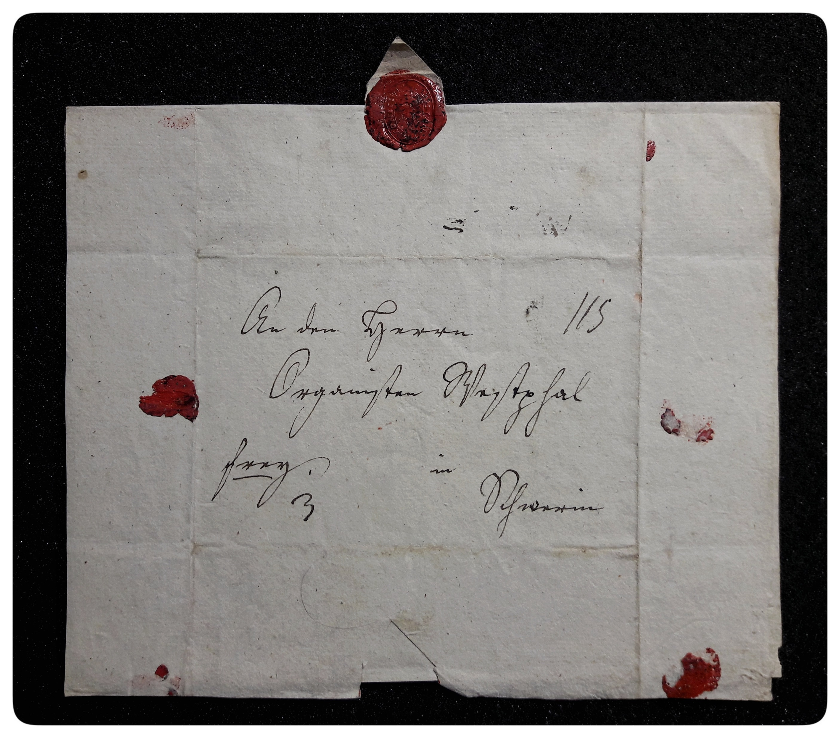 Envelope with the seal of C.P.E. Bach's widow Johanna Maria